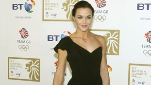 Victoria Pendleton arriving at the BT British Olympic Ball