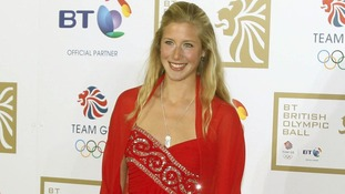 Laura Bechtolsheimer arriving at the BT British Olympic Ball