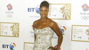 Denise Lewis arriving at the BT British Olympic Ball