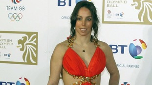 Beth Tweddle arriving at the BT British Olympic Ball