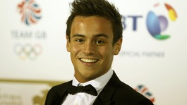 Tom Daley arriving at the BT British Olympic Ball