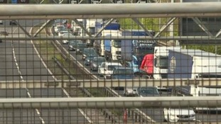 Traffic on the M40 was at a standstill following a police incident
