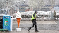 Snow and hail sweep across Britain in Arctic blast