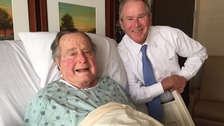 Former President George H.W. Bush and  President George W. Bush
