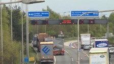 Road chaos on M40 following police incident