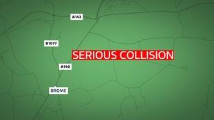 Scene of the collision