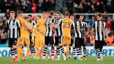 Newcastle United secured promotion after beating Preston 4-1