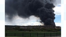 Major fire in Maryport: Homes evacuated, roads and rail closed