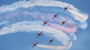 Red Arrows take to skies across Yorkshire