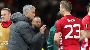 Jose Mourinho and Luke Shaw