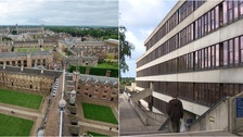The University of Cambridge (left) and the UEA (right) have both achieved high ratings.