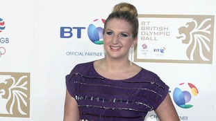 Rebecca Adlington arriving at the BT British Olympic Ball