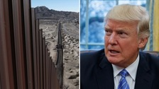 Trump wants to build a 2,000 mile long wall across the US-Mexico border.