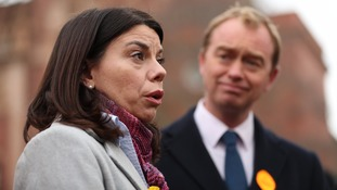 Lib Dem leader Tim Farron and newly-elected Liberal Democrat MP Sarah Olney