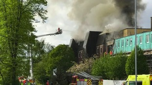 100 firefighters brought in to tackle fire at Manchester's world famous cancer research hospital