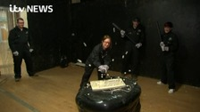 Katy Rickitt tried out the Rage Room on Good Morning Britain