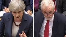 May and Corbyn in heated exchange at final PMQs