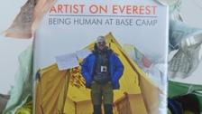 Everest base camp artist's work goes on display