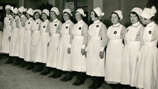 These nurses worked at the hospital in 1915.