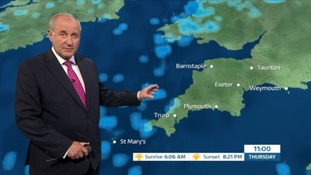Milder but still a cloudy day with showery outbreaks