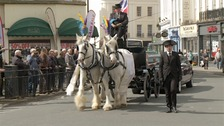 "Funeral of ""Dancing Ken"" marked with procession through town"