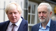 Johnson claims Jeremy Corbyn poses national security threat