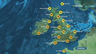 Weather: Cold and sunny start with showers approaching