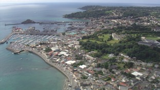 Aerial view of St Peter Port