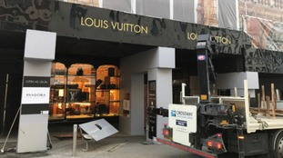 The clear up starts at Louis Vuitton in Leeds