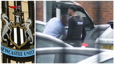 HM Revenue and Customs officials were seen on Newcastle United's premises.
