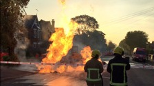 Residents led to safety after gas main fire