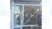 Police called to a suspected ram raid on jewellers