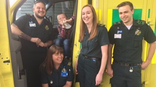Five-year-old reunited with medics who saved his life