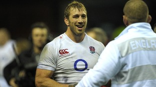 England's Captain Chris Robshaw celebrates winning during the QBE International at Twickenham Stadium, London.