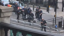 Terror-related arrest after man found with knives near Parliament