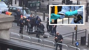 Terror arrest after man found with knives near Parliament