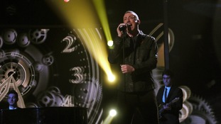 Gary Barlow's contestant Chris Maloney received a good comment from Tulisa