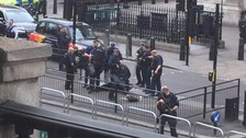 Man 'armed with knives' arrested on suspicion of planning terror acts after Westminster incident