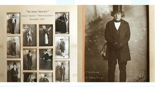 The theatre received a framed collection of old postcards featuring nine cast members.