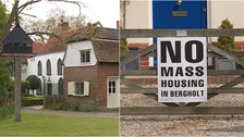 Suffolk village considers joining Essex over housing row
