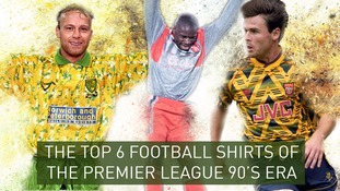 The top 6 classic shirts of the 90's Premier League era