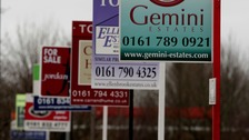 Estate agency boards in Manchester