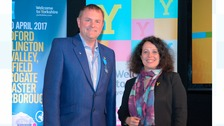 Sir Gary Verity and Her Excellency, Sylvia Bermann, French Ambassador to the UK.