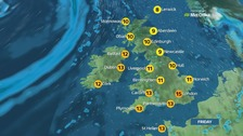 Weather: Largely dry with cloud and sunny spells