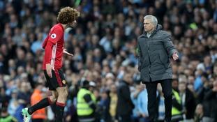 Mourinho: Aguero 'smart' reaction to Fellaini headbutt