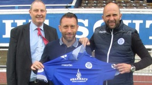 Stephen Dobbie (centre) re-signed in 2016.