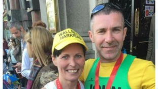 Marie Collinson asked proposed to partner John Dodds during the London Marathon