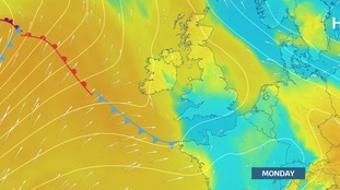 Warmer air from a southerly quarter as we move into the weekend
