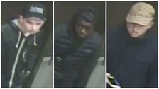 CCTV images of the boys police suspect threatened three boys during two knifepoint robberies