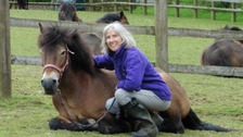 Woman with Exmoor Pony